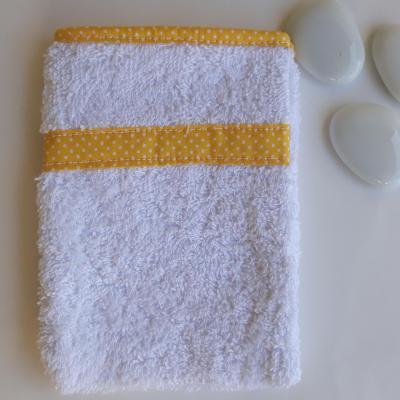 Yellow white cotton baby glove