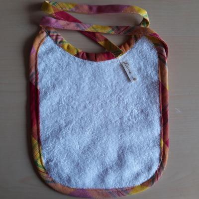 Madras hand-stitched bib