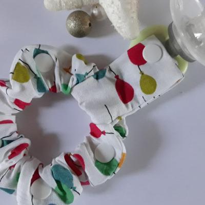 Bracelet porte sucette ballons multicolores