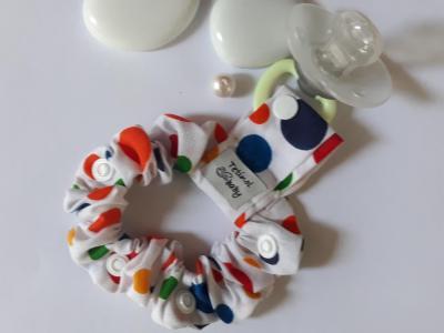 Bracelet porte sucette gros ronds multicolores