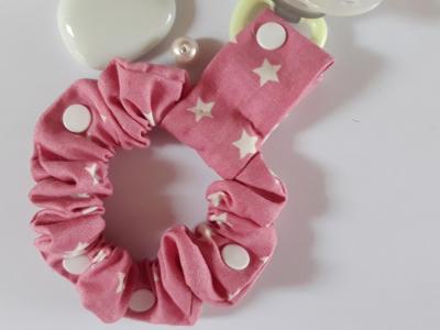 Pink lollipop holder bracelet white stars