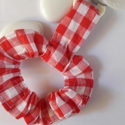 Porte sucette bracelet vichy rouge