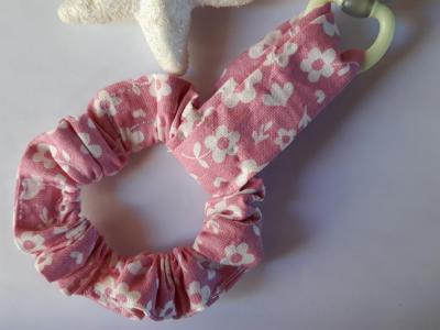 Bracelet porte sucette rose fleurs