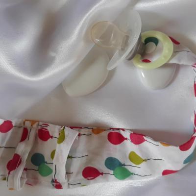 Bracelet porte sucette montre ballons multicolores