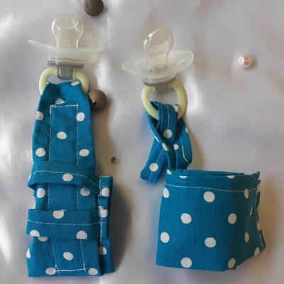 Duo bracelets montre/lacet bleus